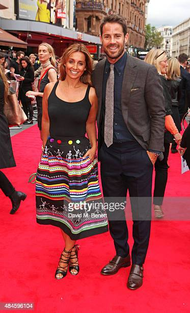 Louise Redknapp and Jamie Redknapp attend the World Premiere of 'The Bad Education Movie' at Vue West End on August 20 2015 in London England
