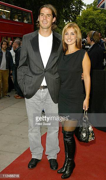 Louise Redknapp and Jamie Redknapp during Mercury Prize 2003 at Grosvenor Park Hotel in London Great Britain