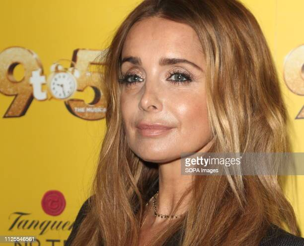 Louise Redknapp arrives for the 9 to 5 the Musical Gala Night at The Savoy Theatre The Strand