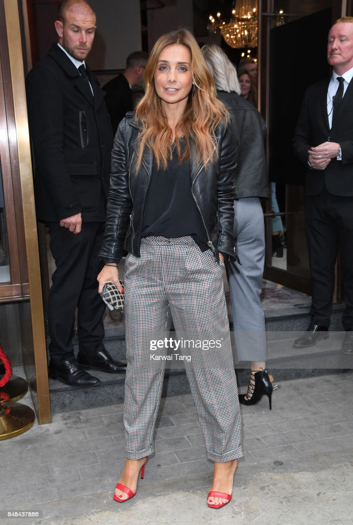 Louise Redknapp arrives for the TOPSHOP Fashion show during London Fashion Week September 2017 on September 17, 2017 in London, England.