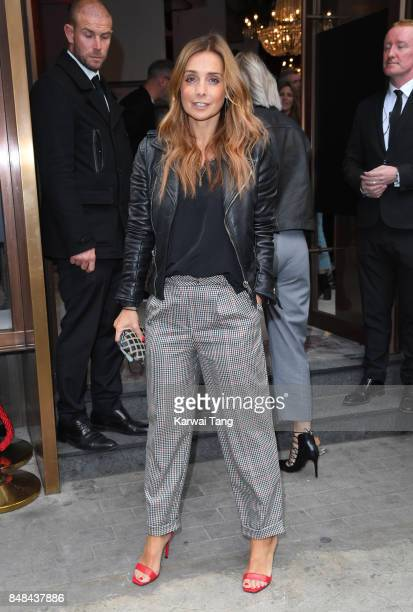 Louise Redknapp arrives for the TOPSHOP Fashion show during London Fashion Week September 2017 on September 17 2017 in London England