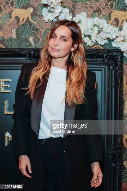 Louise Redknapp attends The Edit Man London x ONE LESS GUN party during London Fashion Week February 2020 at Maddox Club on February 13 2020 in...