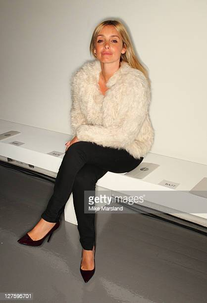 Louise Redknapp attends the front row at the Aquascutum show at London Fashion Week Autumn/Winter 2011 on February 22 2011 in London England