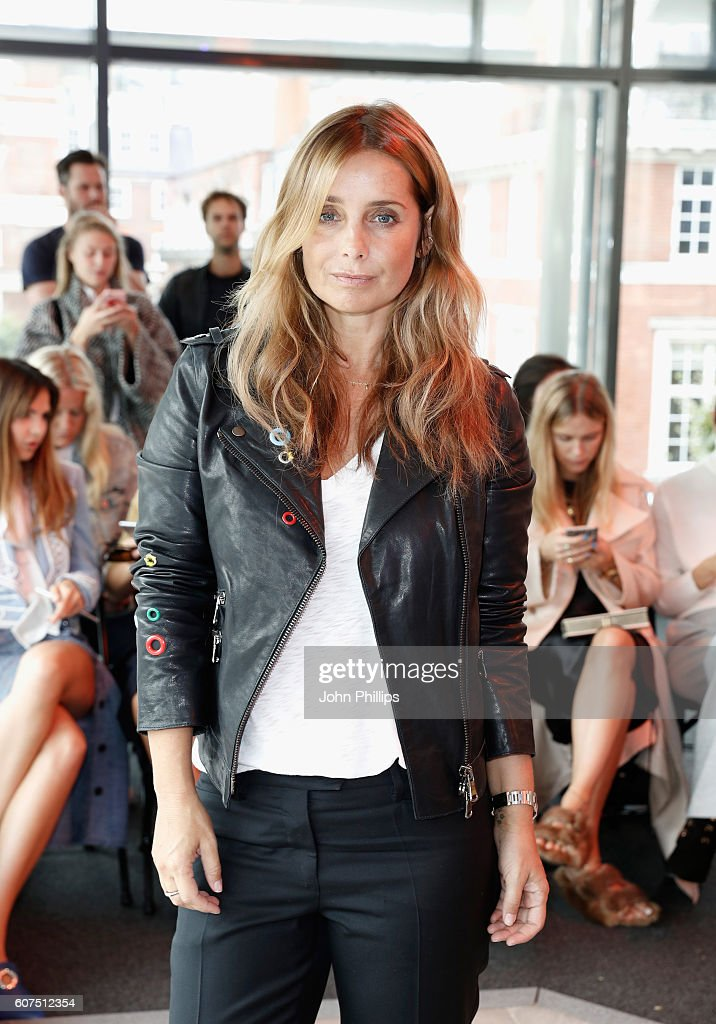 Louise Redknapp attends the Preen by Thornton Bregazzi show during London Fashion Week Spring/Summer collections 2017 on September 18, 2016 in London, United Kingdom.