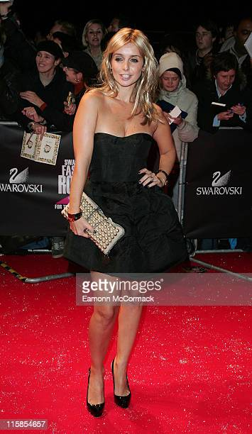 Louise Redknapp attends the Swarovski Fashion Rocks a the the Royal Albert Hall on October 18 2007 in London England