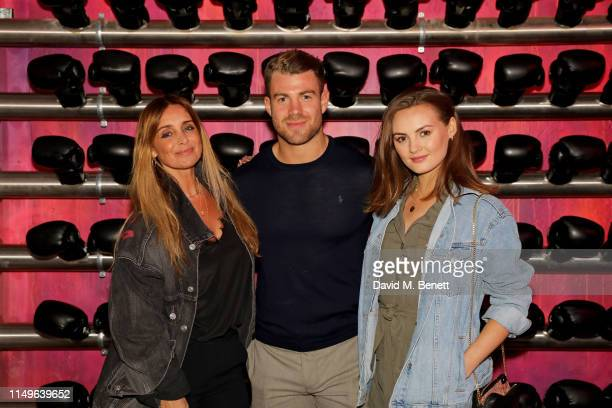 Louise Redknapp Bradley Simmonds and Niomi Smart attend KOBOX New Flagship studio launch party on King's Road on May 16 2019 in London England