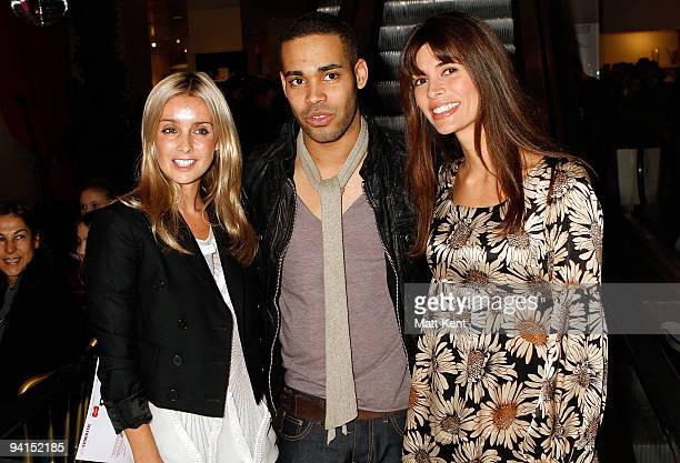 Louise Redknapp Danyl Johnson and Lisa Barbuscia attend the Celebrity Christmas Singalong at Selfridges on December 8 2009 in London England