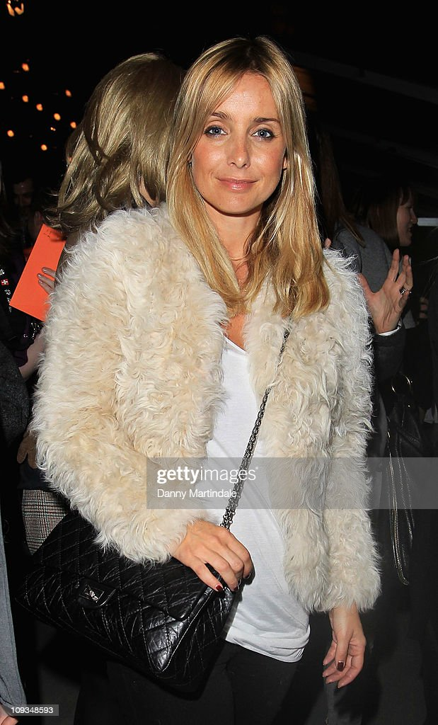 Louise Redknapp is seen on the front row at the Amanda Wakeley show at London Fashion Week Autumn/Winter 2011 on February 22, 2011 in London, England.