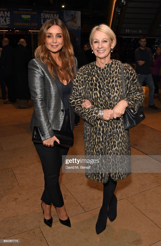 Louise Redknapp & Mum Lynn attend the evening Gala Performance of 'Matthew Bourne's Cinderella' at Sadler's Wells Theatre on December 17, 2017 in London, England.