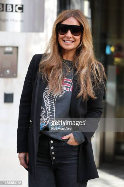 Louise Redknapp seen arriving at BBC Radio 2 on March 26 2019 in London England