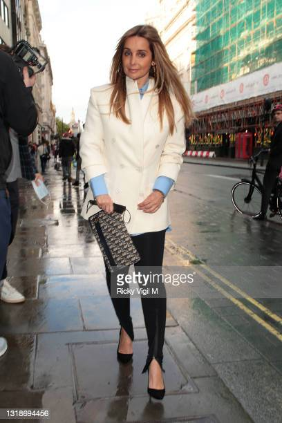 Louise Redknapp seen attending Drag Queens Of Pop - press night at Vaudeville Theatre on May 18, 2021 in London, England.