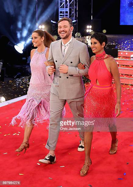 Louise Redknapp Will Young and Naga Munchetty arrive for the launch of 'Strictly Come Dancing 2016' at Elstree Studios on August 30 2016 in...