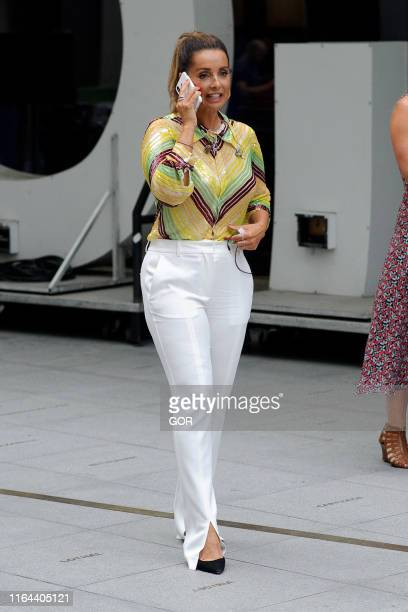Louise Rednapp seen at the BBC Studios on July 26 2019 in London England