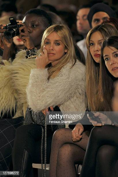 Louise Rednapp seen in the front row at the Bodyamr show at London Fashion Week Autumn/Winter 2011 on February 22 2011 in London England