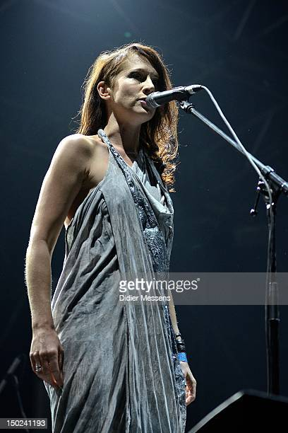 Louise Rhodes of Lamb performs on stage during Sziget Festival on August 12 2012 in Budapest Hungary