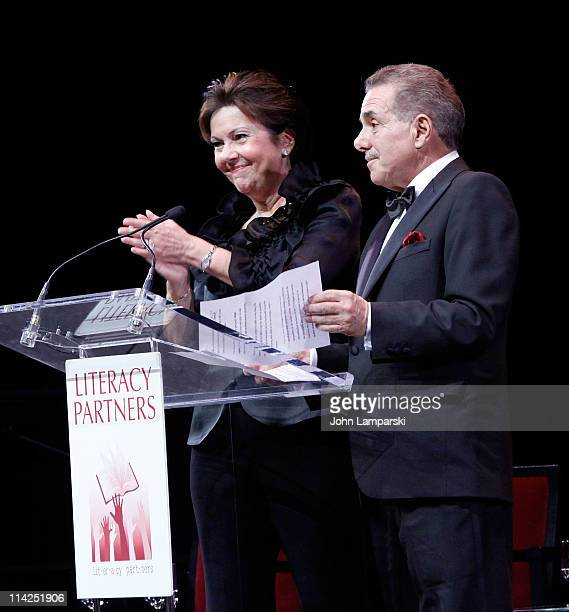 Louise Riggio and Leonard Riggio attend Literacy Partners' 27th annual Evening of Readings gala at David H Koch Theater Lincoln Center on May 16 2011...