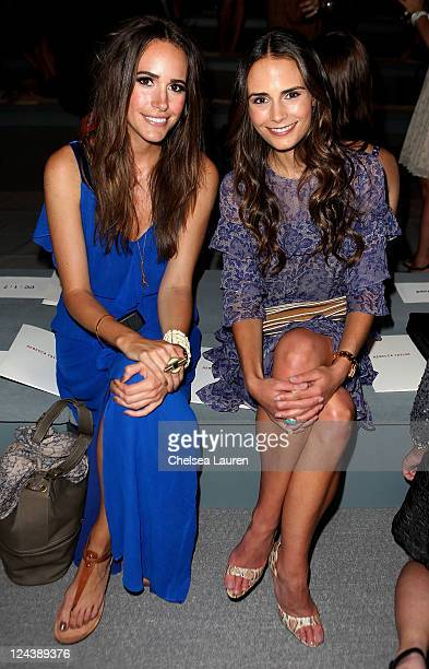 Louise Roe and Jordana Brewster attend the Rebecca Taylor Spring 2012 fashion show during MercedesBenz Fashion Week at The Stage at Lincoln Center on...