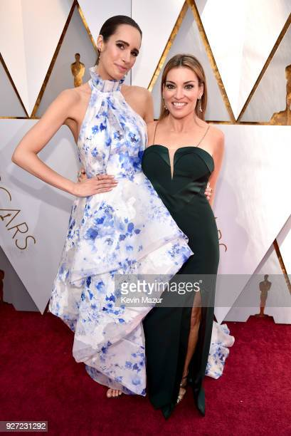 Louise Roe and Kit Hoover attend the 90th Annual Academy Awards at Hollywood Highland Center on March 4 2018 in Hollywood California