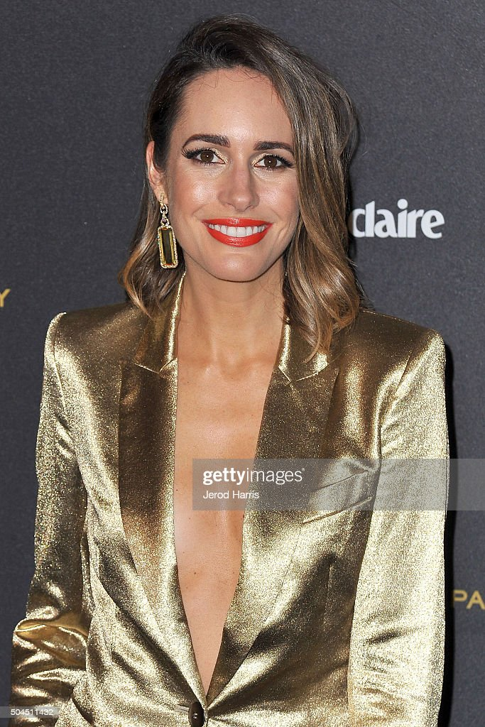 Louise Roe arrives at the 2016 Weinstein Company and Netflix Golden Globes After Party on January 10, 2016 in Los Angeles, California.