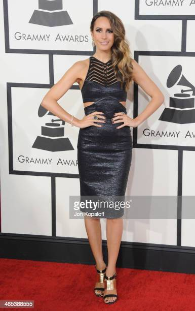 Louise Roe arrives at the 56th GRAMMY Awards at Staples Center on January 26 2014 in Los Angeles California