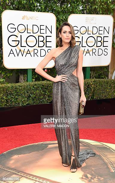 Louise Roe arrives at the 73nd annual Golden Globe Awards January 10 at the Beverly Hilton Hotel in Beverly Hills California AFP PHOTO / VALERIE...