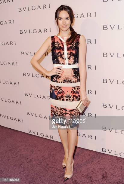 Louise Roe arrives at the Elizabeth Taylor Bulgari Event At The New Bulgari Beverly Hills Boutique on February 19 2013 in Beverly Hills California