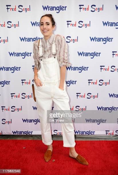 """Louise Roe attends """"A Ride Through the Ages"""": Wrangler Capsule Collection Launch at Fred Segal Sunset at Fred Segal on September 19, 2019 in Los..."""