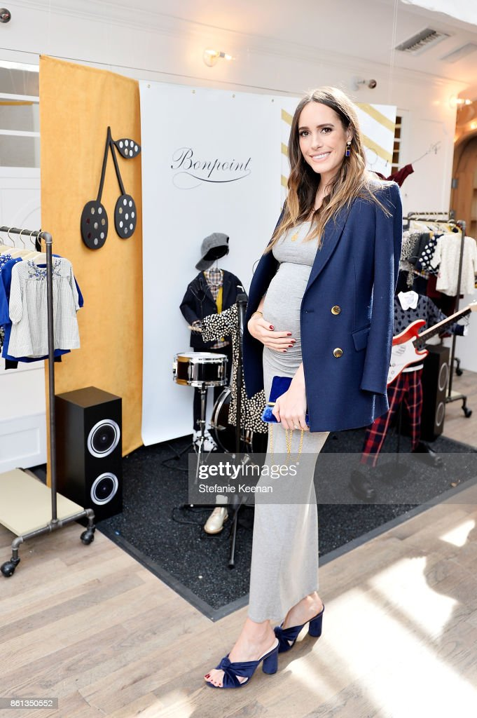 Louise Roe attends Bonpoint & Baby2Baby Celebrate At Au Fudge With Estee Stanley, Kelly Sawyer Patricof And Norah Weinstein at Au Fudge Los Angeles on October 14, 2017 in West Hollywood, California.