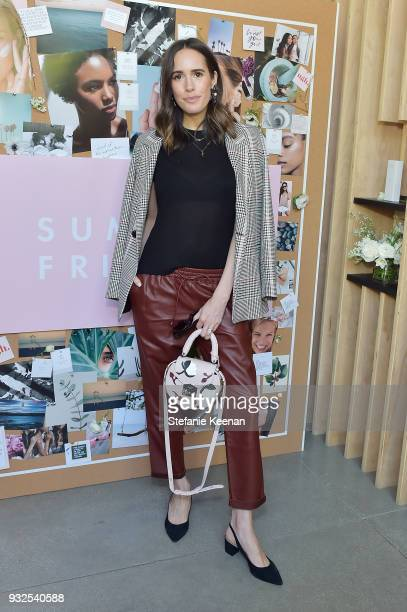 Louise Roe attends Summer Fridays Skincare Launch With Marianna Hewitt Lauren Gores Ireland at Hayden on March 15 2018 in Culver City California