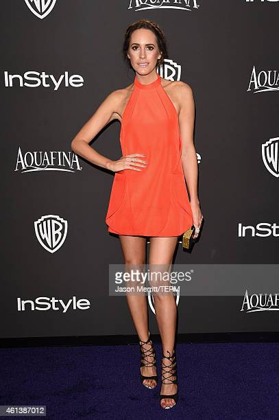 Louise Roe attends the 2015 InStyle And Warner Bros 72nd Annual Golden Globe Awards PostParty at The Beverly Hilton Hotel on January 11 2015 in...