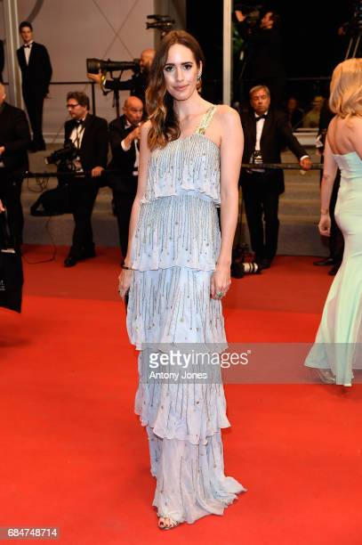 Louise Roe attends the 'Blade Of The Immortal ' premiere during the 70th annual Cannes Film Festival at Palais des Festivals on May 18 2017 in Cannes...