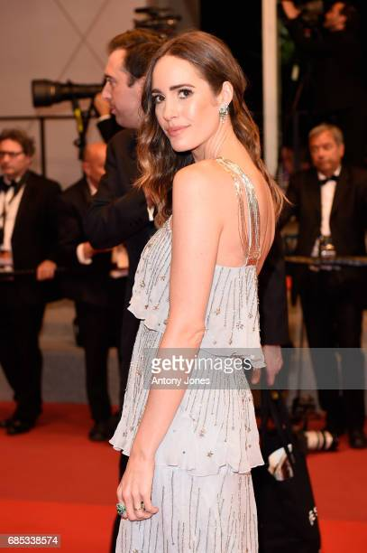 Louise Roe attends the 'Blade Of The Immortal ' screening during the 70th annual Cannes Film Festival at Palais des Festivals on May 18 2017 in...