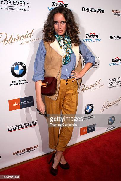 3f1a52a37fb Louise Roe attends the EMU Australia Fashion Show at NYC Fashion Week  STYLE360 presented by Polaroid