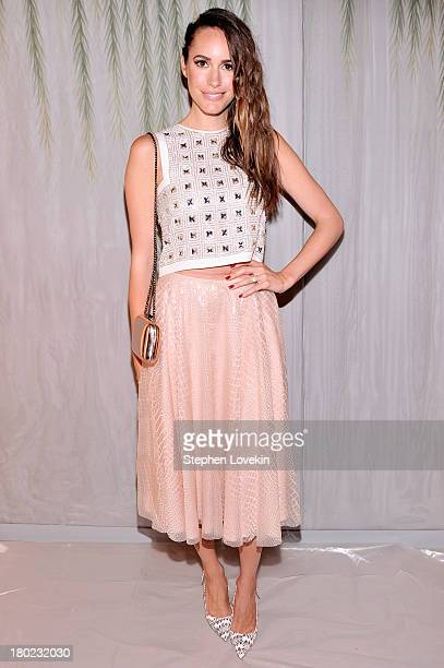 Louise Roe attends the Jenny Packham fashion show during MercedesBenz Fashion Week Spring 2014 at The Studio at Lincoln Center on September 10 2013...