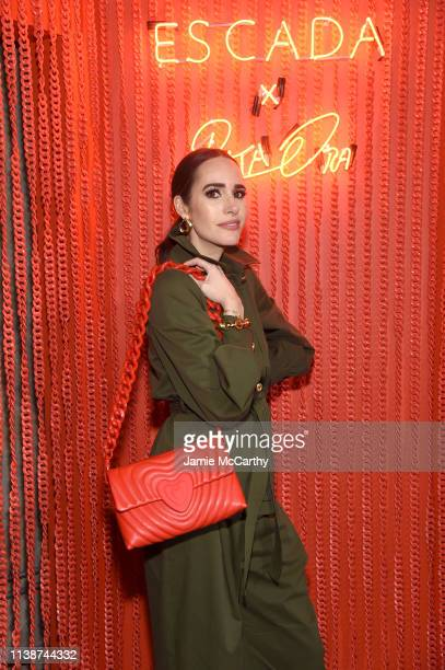 Louise Roe attends the launch of the ESCADA Heartbag by Rita Ora on March 27 2019 in New York City