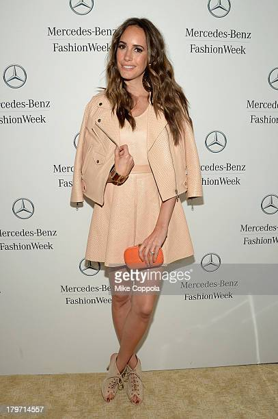 Louise Roe attends the MercedesBenz Star Lounge during MercedesBenz Fashion Week Spring 2014 at Lincoln Center on September 6 2013 in New York City