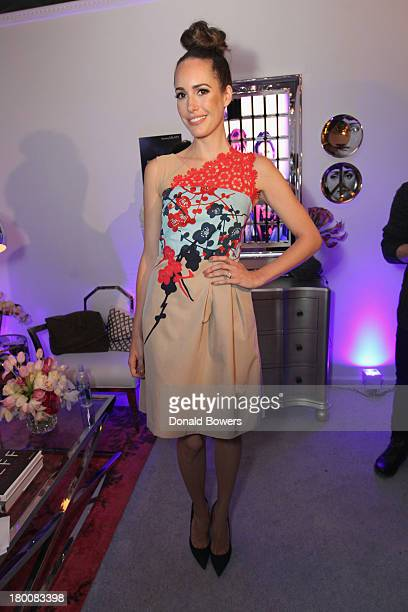 Louise Roe attends the Samsung Galaxy Blue Room at MercedesBenz Fashion Week Spring 2014 Collections at Lincoln Center on September 8 2013 in New...