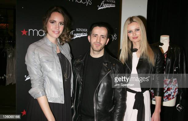 Louise Roe Designer Kinder Aggugini and Model Edita Vilkeviciute attend the launch of Kinder Aggugini's capsule collection for IMPUSLE at Macy's...