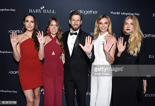 Louise Roe founder of AdoptTogether Hank Fortener Tamie Ingham and Jasmine Yarbrough attend the 2nd Annual Baby Ball Gala at NeueHouse Hollywood on...