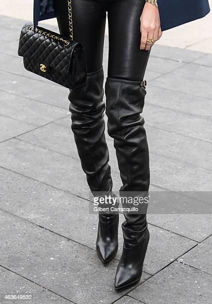 Louise Roe is seen around MercedesBenz Fashion Week Fall 2015 at Lincoln Center on February 16 2015 in New York City