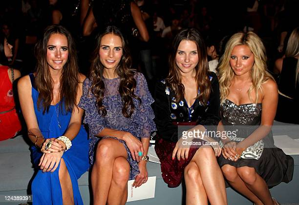 Louise Roe Jordana Brewster Sophia Bush and Ashley Tisdale attend the Rebecca Taylor Spring 2012 fashion show during MercedesBenz Fashion Week at The...