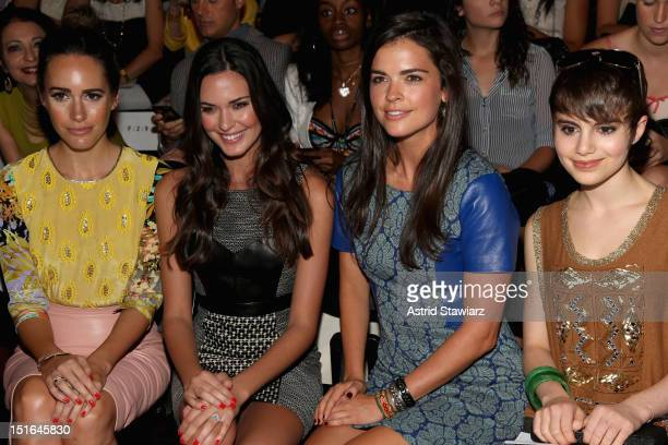 Louise Roe Odette Annable Katie Lee and Sami Gayle attend the Tracy Reese Spring 2013 fashion show during for TRESemme during MercedesBenz Fashion...