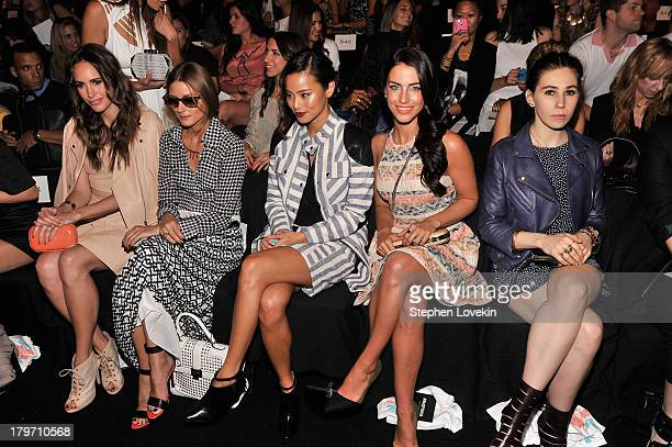 Louise Roe Olivia Palermo Jamie Chung Jessica Lowndes and Zosia Mamet attend the TRESemme at Rebecca Minkoff Spring 2014 fashion show during...