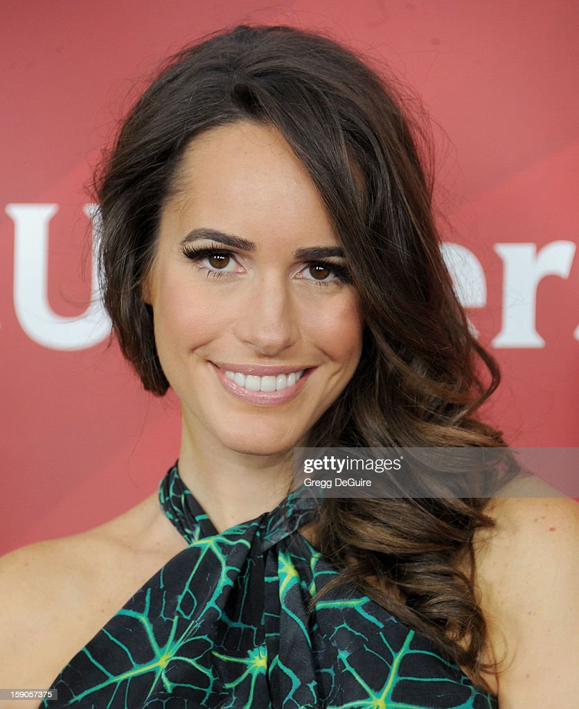 Louise Roe poses at the 2013 NBC Universal TCA Winter Press Tour Day 1 at The Langham Huntington Hotel and Spa on January 6, 2013 in Pasadena, California.