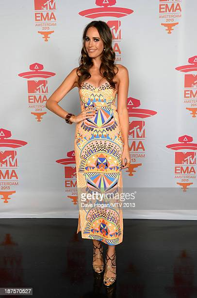 Louise Roe poses in the Exclusive Arrivals Studio during MTV EMA's 2013 at the Ziggo Dome on November 10 2013 in Amsterdam Netherlands