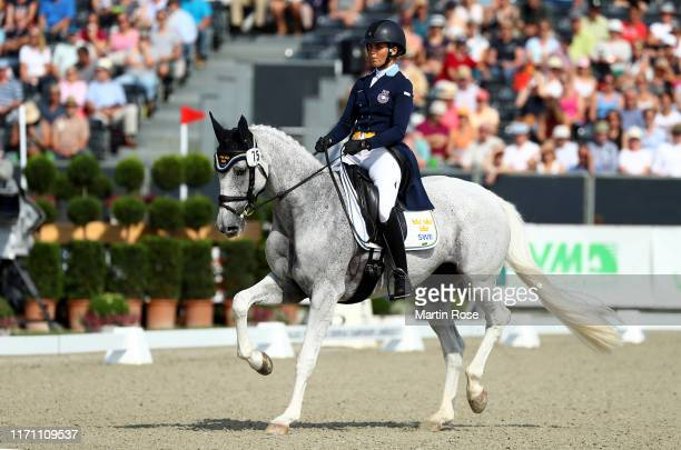 Louise Romeike of Sweden riding Waikiki 207 competes during Day 3 of Longines FEI Dressage European Championship on August 30, 2019 in Luhmuhlen,...