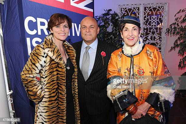 Louise  Salter BAFTA board member Nigel Daly and Tziporah Salamon attend the 2014 GREAT British Oscar Reception at British Consul General's Residence...