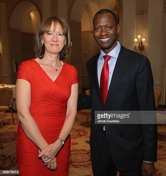 Louise Shackelton and Boubacar Barry attend the Annual Freedom Award Benefit Event hosted by International Rescue Committee on November 5 2014 in New...