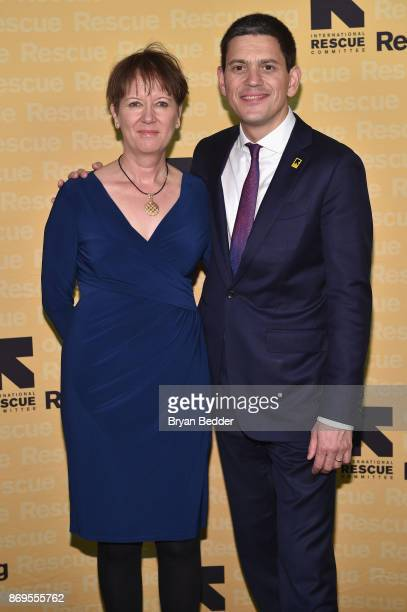 Louise Shackelton and IRC President and CEO David Miliband attend The 2017 Rescue Dinner hosted by IRC at New York Hilton Midtown on November 2 2017...