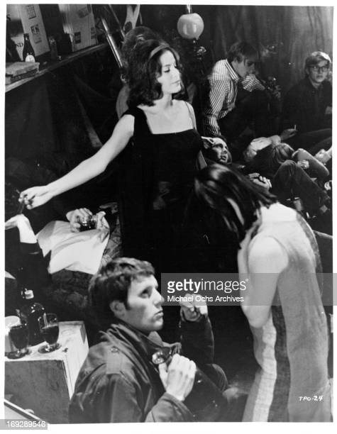 Louise Sorel at a party in a scene from the film 'The Party's Over' 1965 Photo by Allied Artists/Getty Images